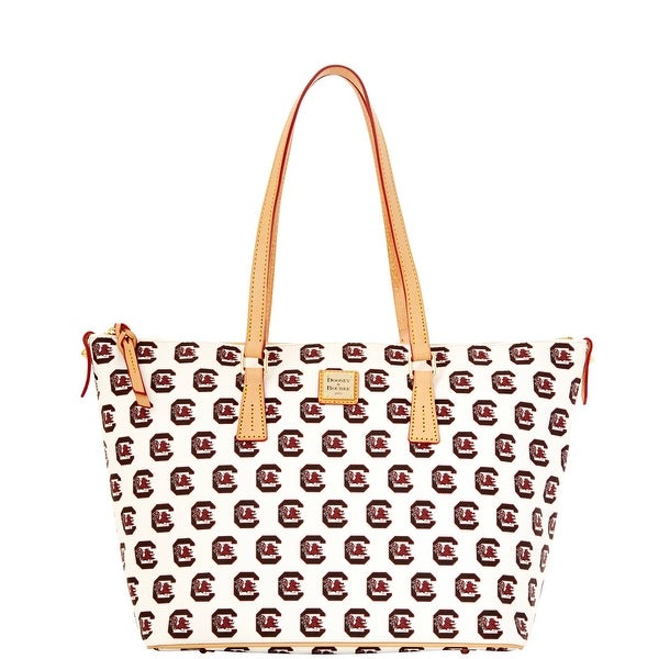 Dooney & Bourke NCAA South Carolina Zip Top Shopper (Introduced by Dooney & Bourke at $248 in Nov 2014) - White