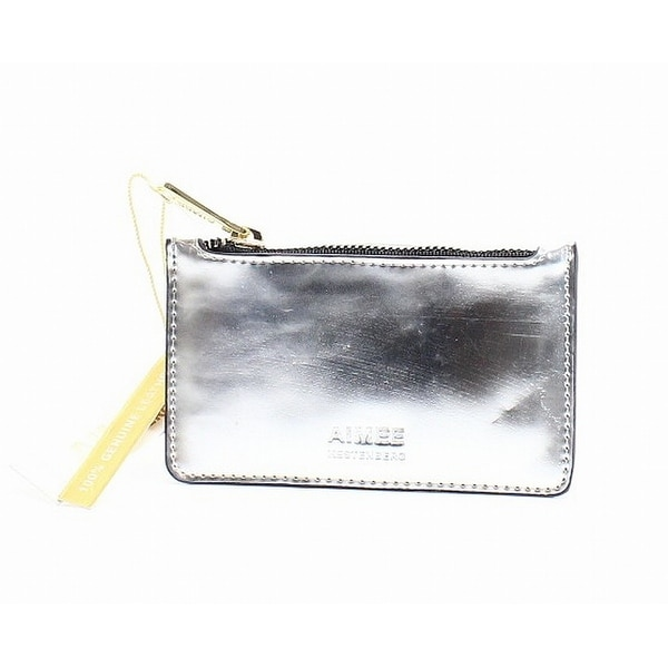 AIMEE KESTENBERG Silver Mirror Leather Melbourne Cardholder Wallet