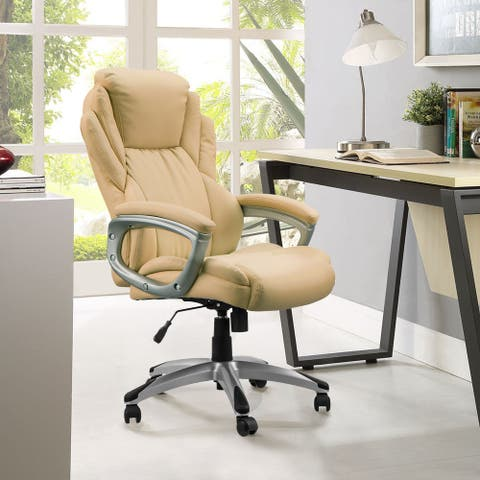Adjustable Height Breathable PU Leather Swivel Ergonomic Office Chair