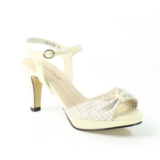 Rose Petals NEW Beige Piper 9M Ankle Strap Patent Leather Sandals
