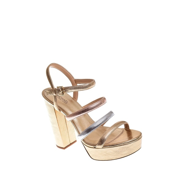 Michael Kors Womens Nantucket Leather Open Toe Special Occasion Slingback San...