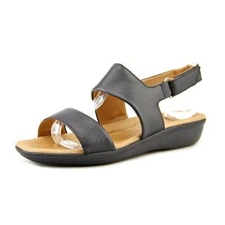 Clarks Manilla Penna Women Open-Toe Leather Black Slingback Sandal