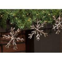 "Snowy Angel Vine Snowflake Ornament, 6"""