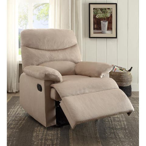 Recliner (Motion) in Beige Woven Fabric