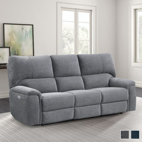 Linville Power Double Reclining Sofa with Power Headrests