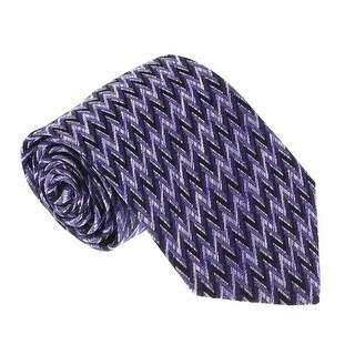 Missoni U4055 Purple/Black Chevron 100% Silk Tie - 60-3