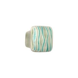 Acorn Manufacturing PSFYP Ceramic Square 1-5/8 Inch Square Cabinet Knob
