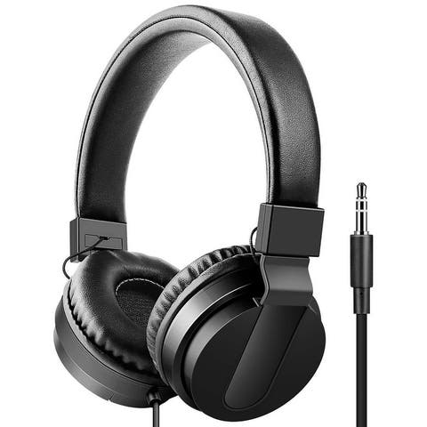 Art & Sound Chroma On-Ear Headphones with Built-In Mic, Portable Audio Headset with Adjustable Headband