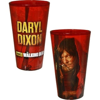 The Walking Dead Daryl Dixon Foil Print Red Pint Glass