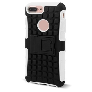 Cell Phone Plastic Stand Design Shockproof Case Cover White for iphone 7 Plus