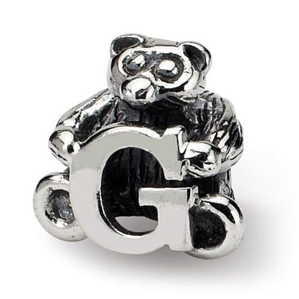Sterling Silver Reflections Kids Letter G Bead (3.5mm Diameter Hole)