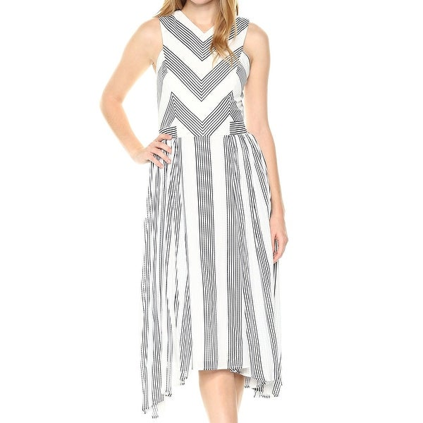 6324e459d6cc7 Shop Adelyn Rae White Women s Size XS Striped V-Neck Sheath Dress - On Sale  - Free Shipping Today - Overstock - 27186330