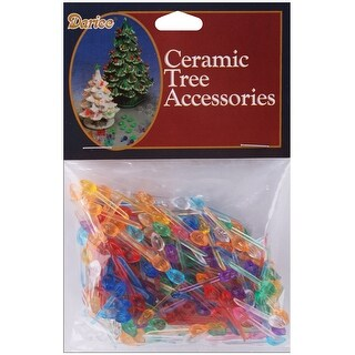 "Ceramic Christmas Tree Bulb .25"" 250/Pkg-Mini Flame-Multi"
