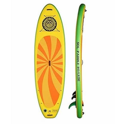 "SOL Paddle Boards SOLtrain SUP 10'7"" Inflatable SUP carries up to 300 lbs"