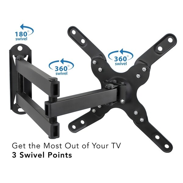 Full Motion TV Wall Mount Bracket Tilt Swivel 17 19 20 23 24 26 27 28 30 32 42/'/'