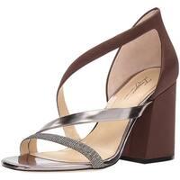 Imagine Vince Camuto Women's Abi Heeled Sandal, Dark Chocolate, Size 9.0 - 9