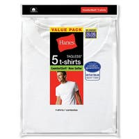 Hanes Men's White TAGLESS® Crewneck Undershirt 5-Pack - Size - 2XL - Color - White