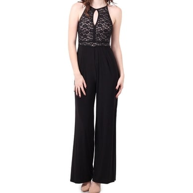 76cd8a60477f Shop Nightway NEW Black Womens Size 10 Lace Keyhole Sequin Illusion Jumpsuit  - Free Shipping On Orders Over  45 - Overstock - 19269782
