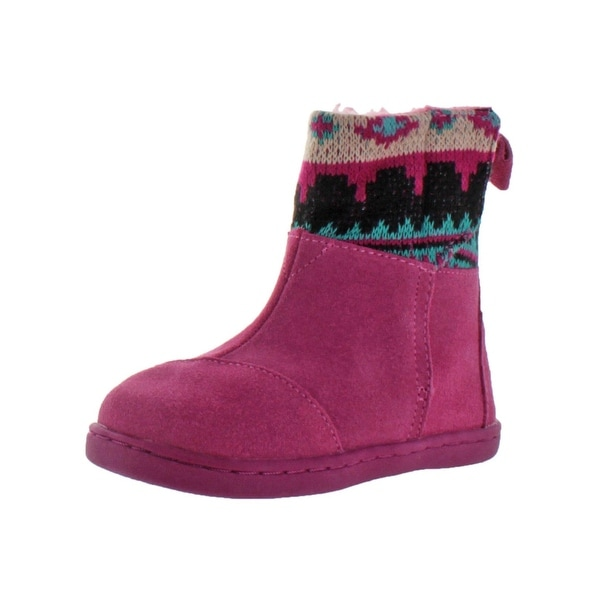 dd0ce21ab09 Shop Toms Girls Nepal Boot Winter Boots Suede Knit Trim - Free ...
