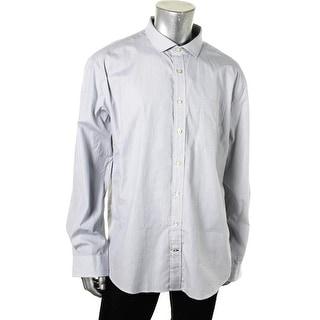 Tommy Hilfiger Mens Custom Fit Pattern Button-Down Shirt - XXL