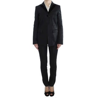 EXTE Black One Button Three Piece Suit - it42-m