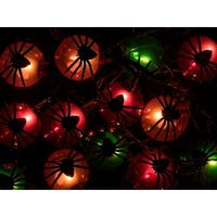 Monoprice 10 Count Spider Halloween String Light 11.5 feet