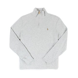 Polo Ralph Lauren NEW Gray Mens Size XL 1/2 Zip Pullover Sweater