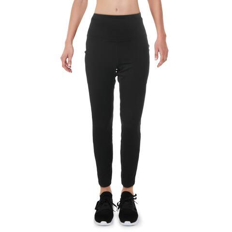 Reebok Womens Athletic Leggings High Rise Running - Black - L