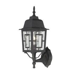 Nuvo Lighting 60/4926 Banyon Single-Light Wall Lantern with Clear Water Glass Pa