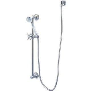 Elements Of Design EAK3421W1 Shower Kit with Brass Supply Elbow, Slide Bar, Hose and Restoration Style Metro Hand Shower