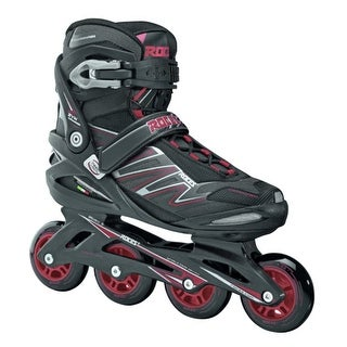 RC Sports Men's Roces ZYX Black with Red Fitness Inline Skates