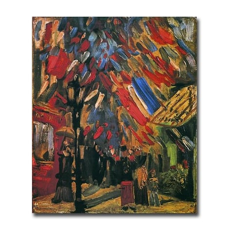 July 14th Celebration, Paris by Vincent Van Gogh Gallery Wrapped Canvas Giclee Art (30 in x 24 in)