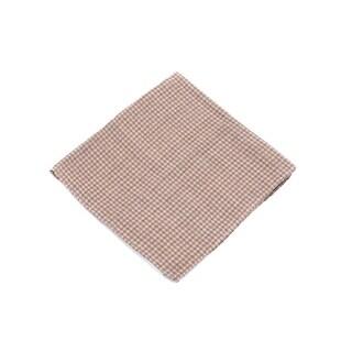 Brunello Cucinelli Men's Brown Checkered Wool Pocket Square
