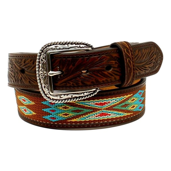 Ariat Western Belt Mens Inlay Ribbon Southwestern Multi-Color