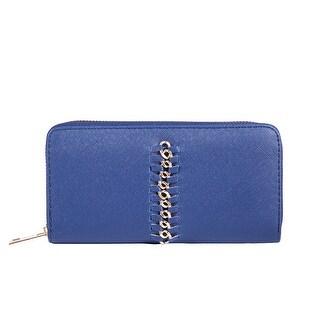 Sapphire Blue Golden Wire Clutch