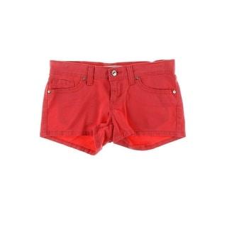 Levi's Womens Juniors Twill Flat Front Casual Shorts - 9