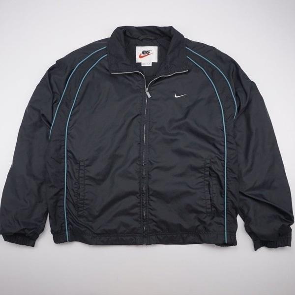614417767 Shop NIKE Lined Vented Full Zip Athletic Jacket Black Youth XLARGE ...