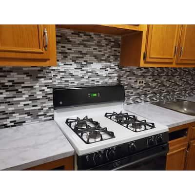 "Art3d 12""x12"" Peel and Stick Tiles, Kitchen Backsplash Tile Mist Grey"