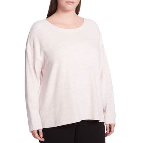 Calvin Klein Performance Women's Plus Size Sweatshirt (Pink, 1X)