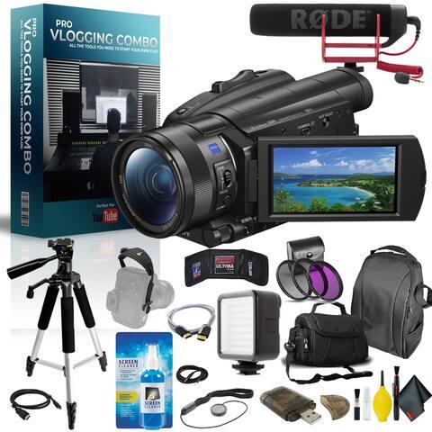 Sony 4K Camcorder International Model Pro Vlogger Combo