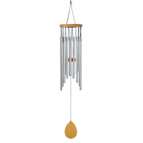 Timeless Waterfall Wind Chimes - Silver