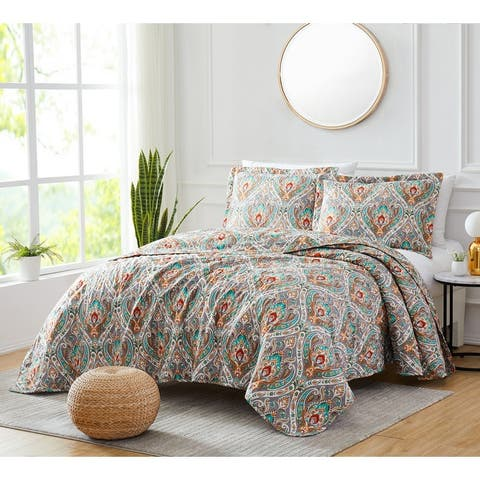 Georgetown Monaco 3-Piece Reversible Quilt Set in King