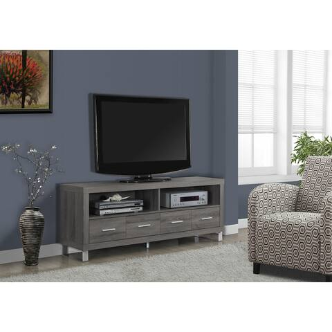 Monarch 2517 Dark Taupe With 4 Drawers 60nch Tv Stand