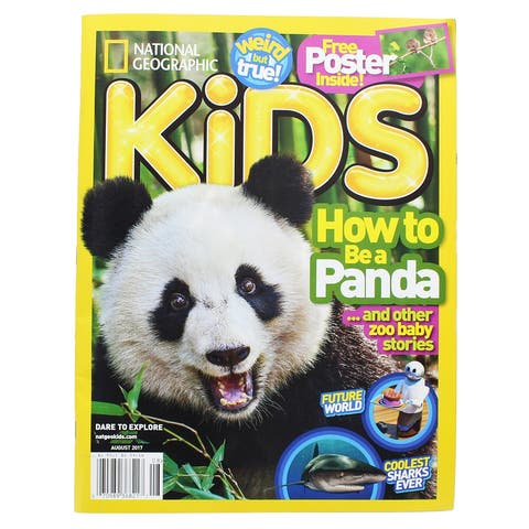National Geographic Kids Magazine: How to Be a Panda (Aug 2017) - Multi