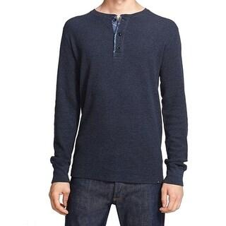 GRAYERS NEW Blue Mens Size XL Long Sleeve Henley Crewneck Sweater