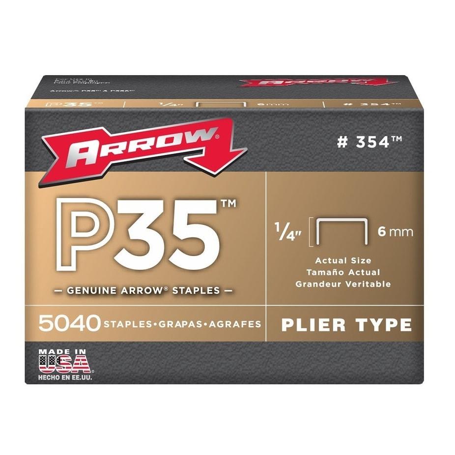 Arrow Fastener 354 P35 Staples, 1/4