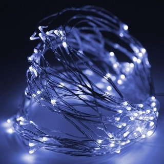 33ft (10m) 100LEDs Fairy LED Wire String Lights,Novelty Starry Starry Lights w/ Power Supply,Flexible Copper Wire for Festival