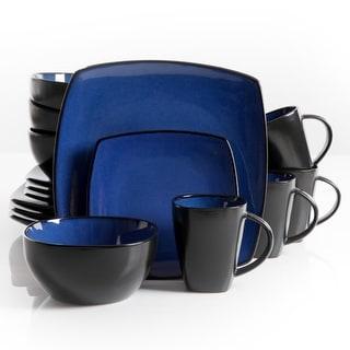Link to Modern Sheik 16 Piece Squared Dinnerware Set in Blue Similar Items in Dinnerware