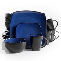 Soho Lounge 16 pc Dinnerware, Blue Square Shape