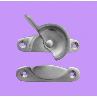 Traditional Solid Brass Window Sash Lock Satin Chrome